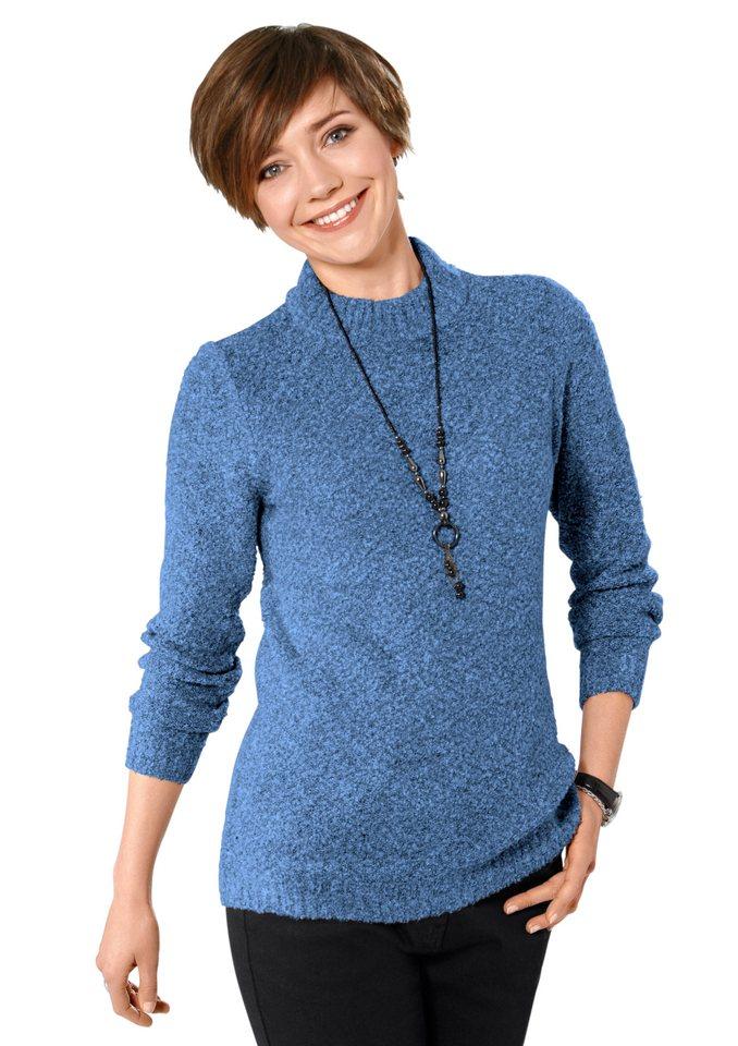 Classic Basics Pullover in wunderbar flauschiger Qualität in jeansblau-meliert