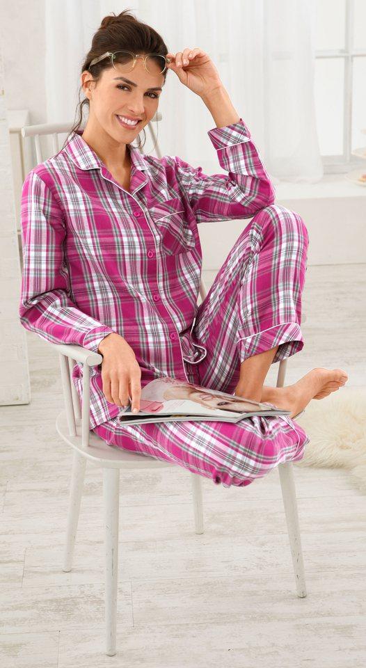 Schlafanzug, Rosalie in fuchsia-grau-kariert