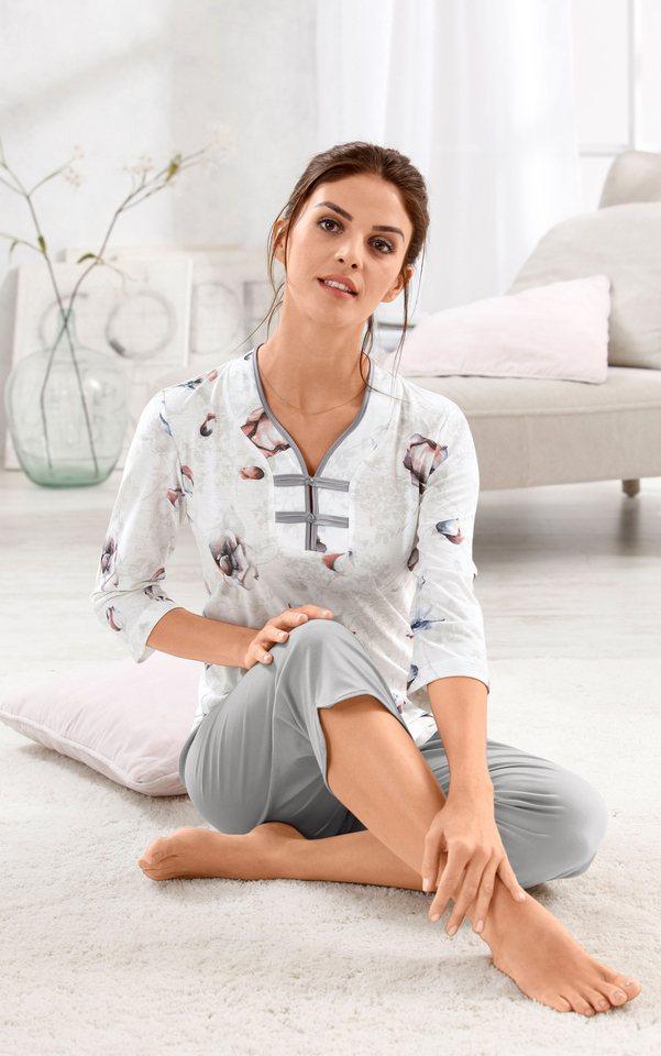 Schlafanzug, Ascafa in silberfarben-bedruckt