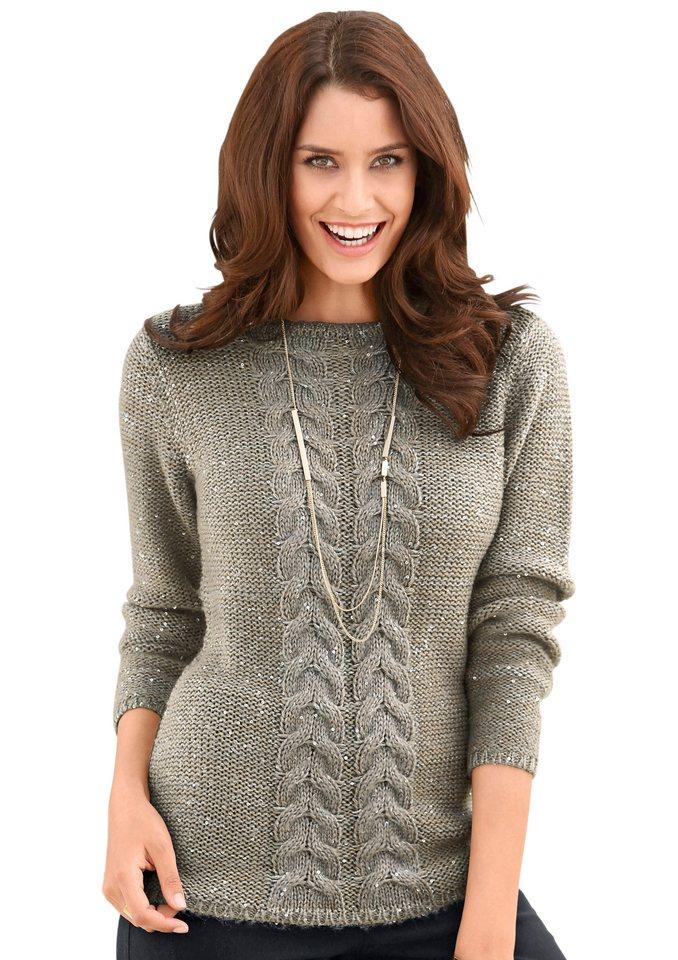 Classic Inspirationen Pullover mit feinen Glanz in bronzefarben-grau