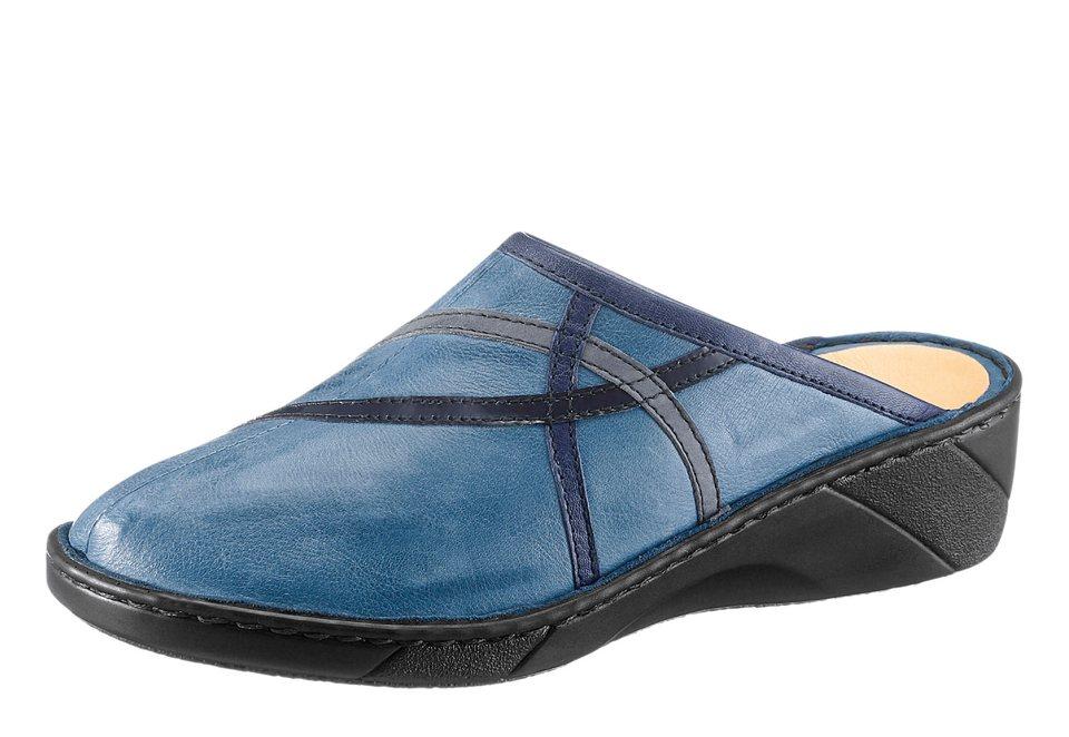 Gemini Pantolette mit Wechselfußbett in hellblau-blau