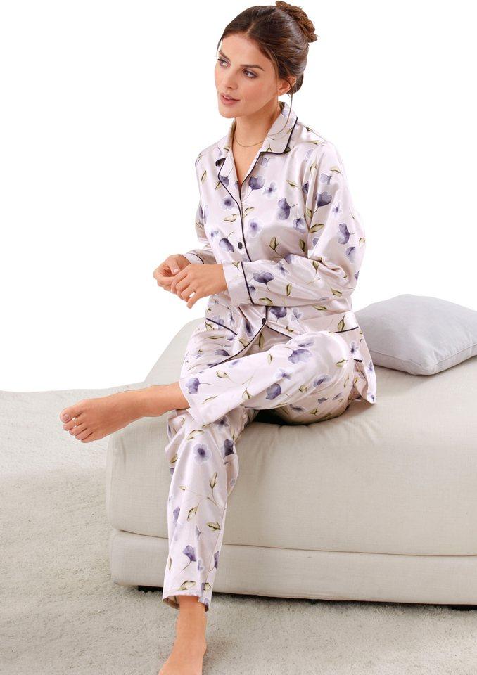 Pyjama, Rosalie in flieder-bedruckt