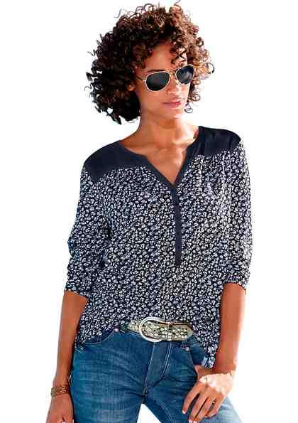 Ambria Shirt mit Knopfleiste