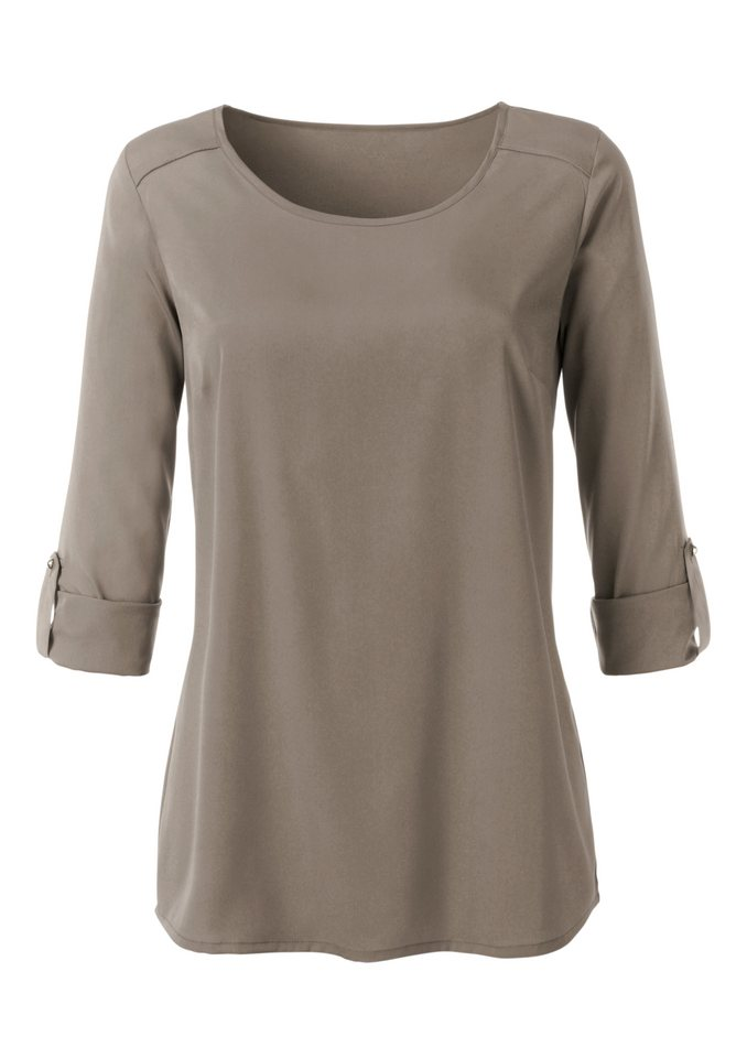 Classic Inspirationen Bluse in Schlupfform in taupe