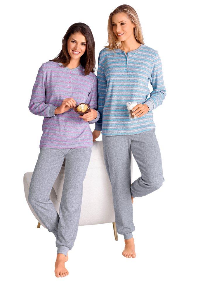 Schlafanzug, Comtessa in blau-geringelt