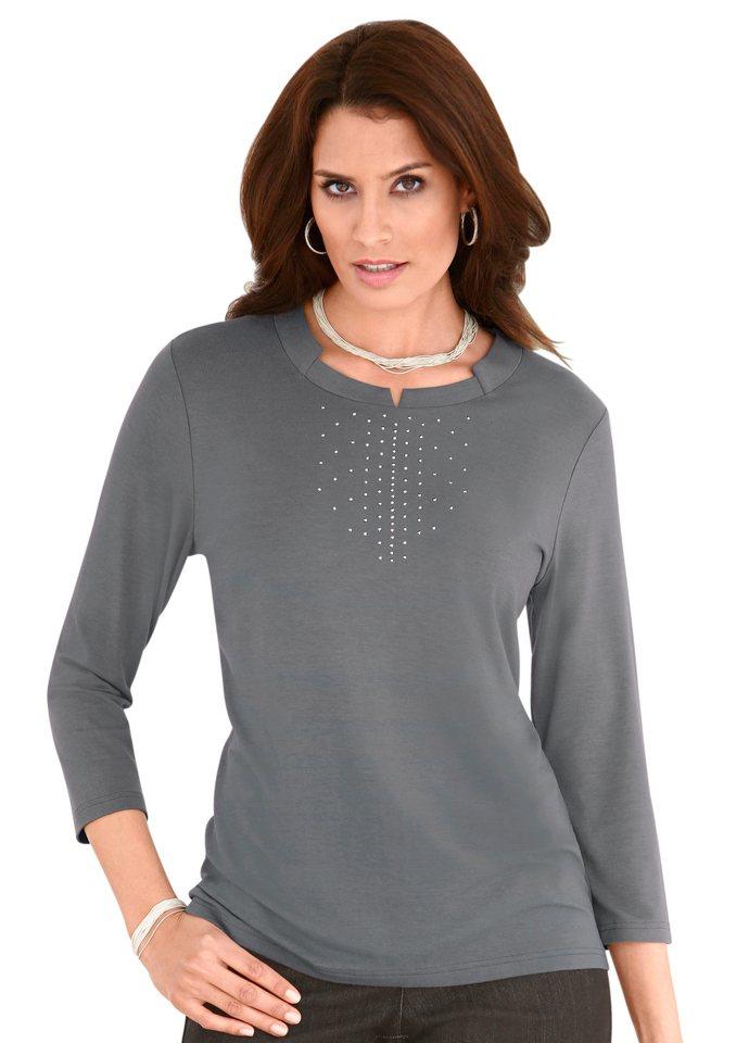 Classic Inspirationen Shirt mit 3/4-Ärmeln in grau