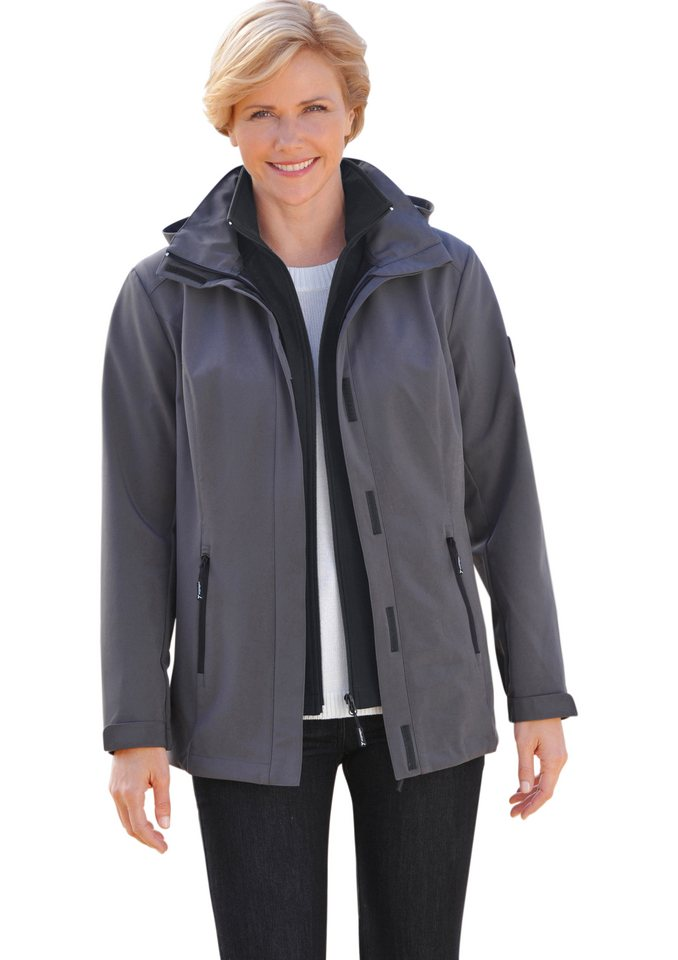 Collection L. Jacke in Softshell-Qualität in grau