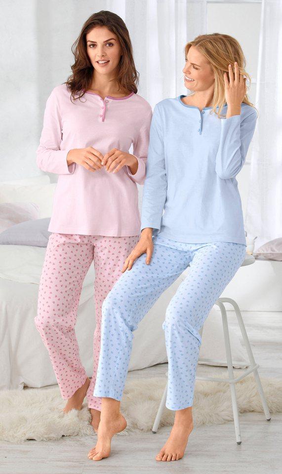 Schlafanzüge, Rosalie (2 Stck.) in hellblau + rosé