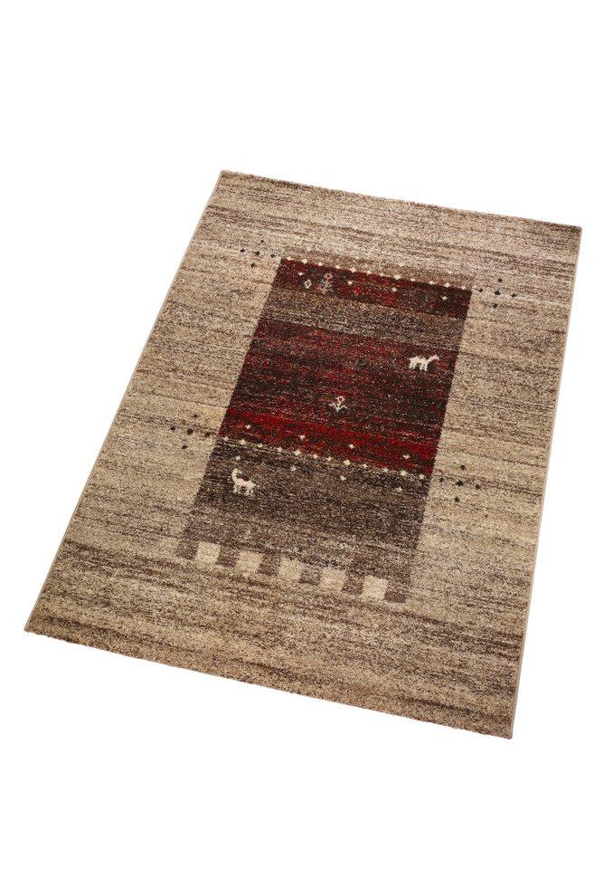 Teppich in natur-rot