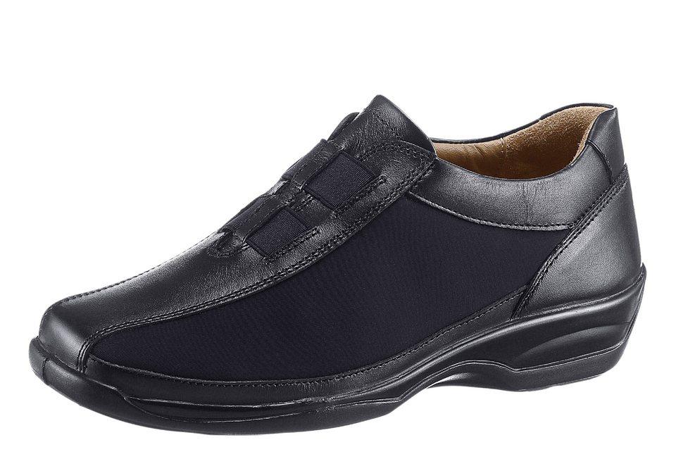 Gemini Slipper mit Leder-Wechselfußbett in schwarz