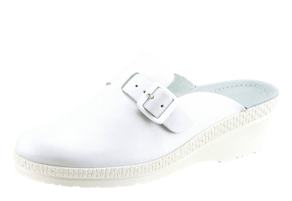 Rohde Clogs mit anatomisch geformtem Fußbett in weiß