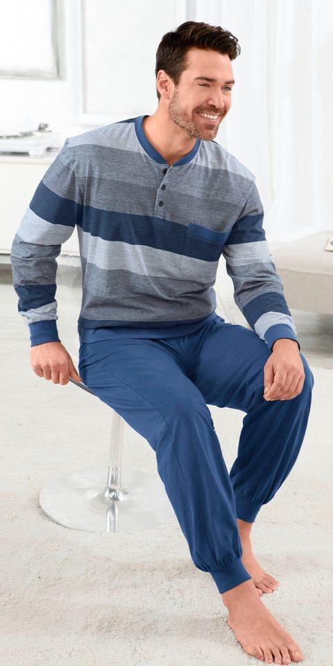Schlafanzug, Comte in blau-geringelt