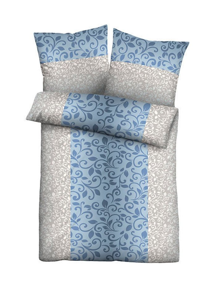 Bettwäsche, Biberna in blau