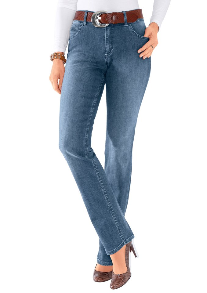 Collection L. Paddock´s Jeans in figurfreundlichem Schnitt in blue-bleached