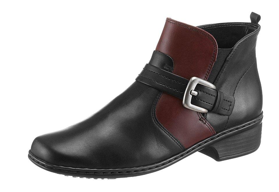 Jenny Stiefelette mit rutschhemmender PU-Laufsohle in schwarz-bordeaux