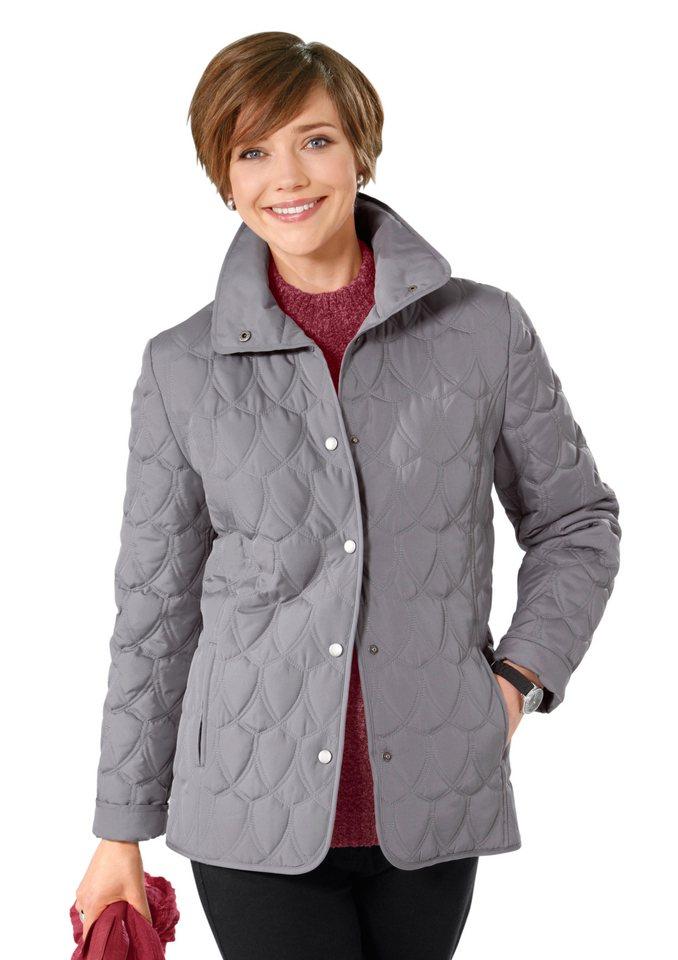 Classic Basics Jacke mit figurformenden Prinzess-Nähten in grau