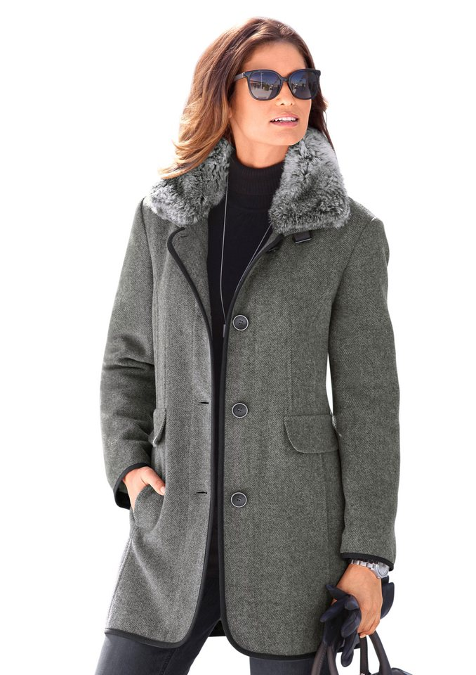 Wega Fashion Jacke mit Steppfutter in grau-meliert
