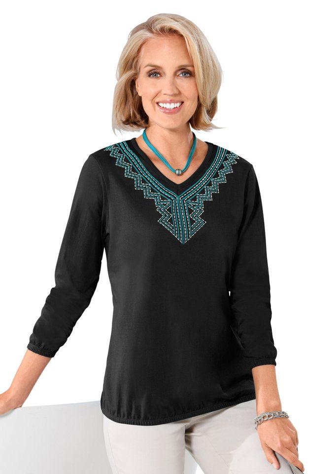 Classic Basics Shirt in weicher Single-Jersey-Qualität in schwarz