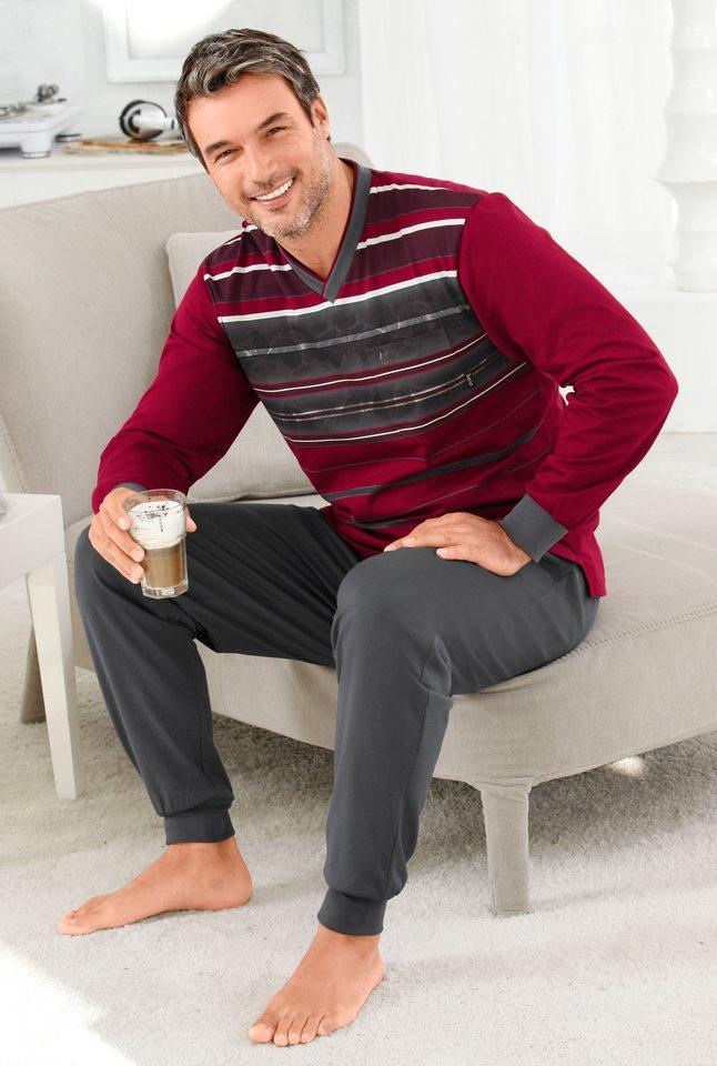 Schlafanzug, Hajo, »Hajo-Klima-Komfort« in weinrot