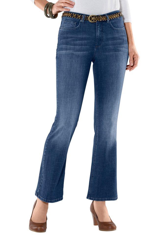 H.I.S. Jeans in figurfreundlicher Bootcut-Form, H.I.S in blue-bleached