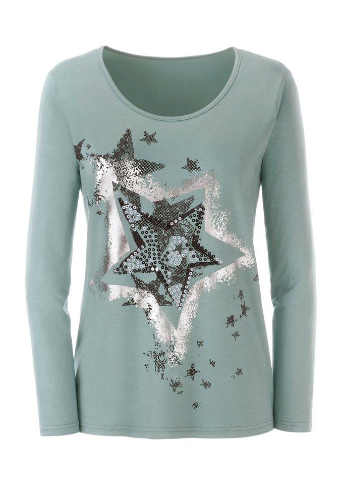 Ambria Shirt mit funkelnden Pailletten in mint