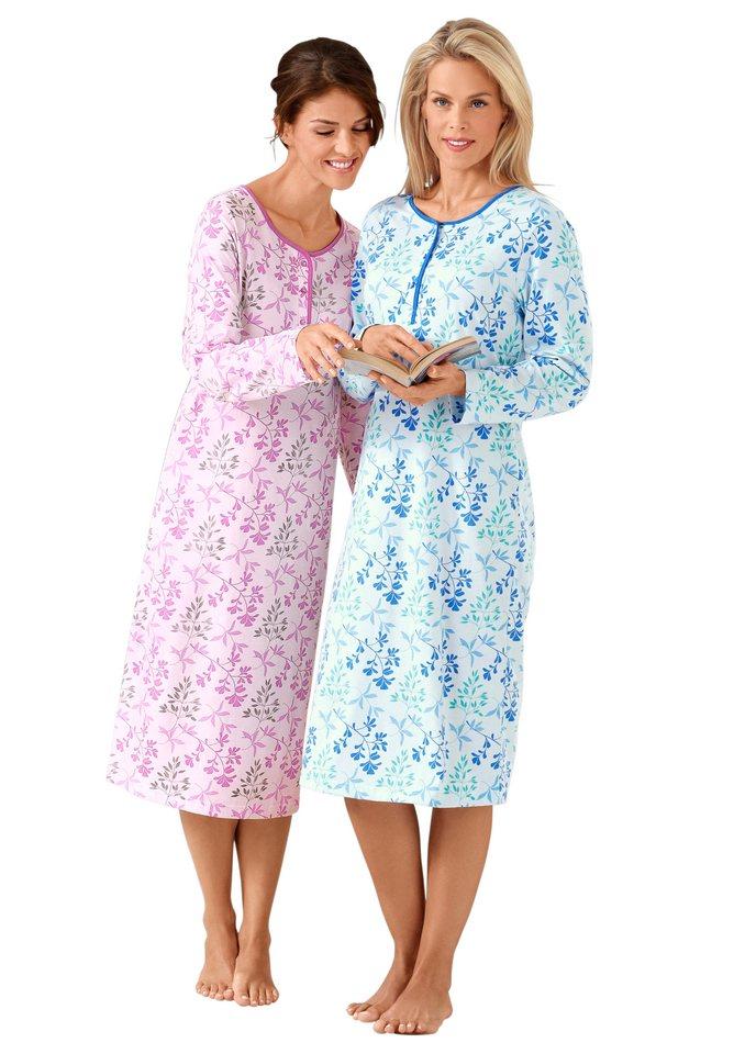 Nachthemden, Rosalie (2 Stck.) in rosé + blau