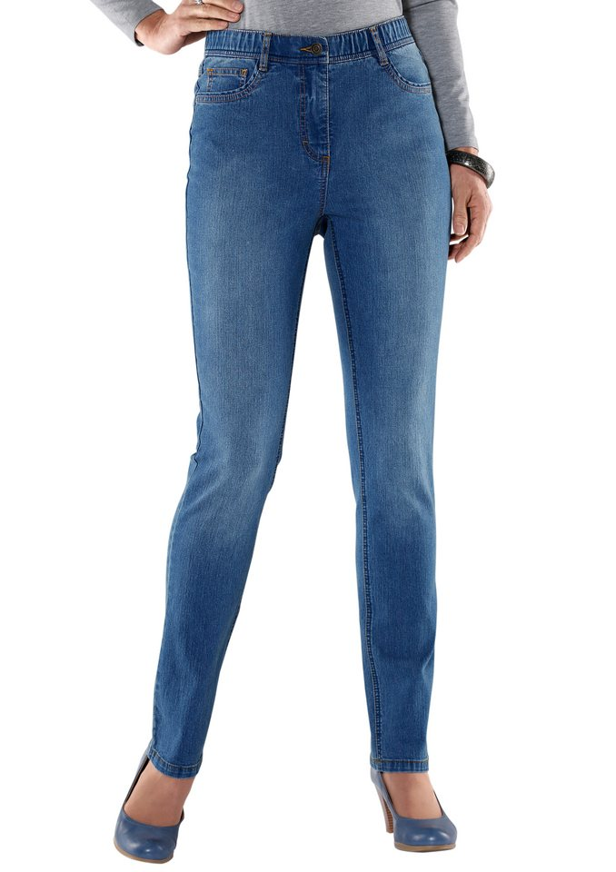 Collection L. Jeans in gepflegter Optik in blue-bleached