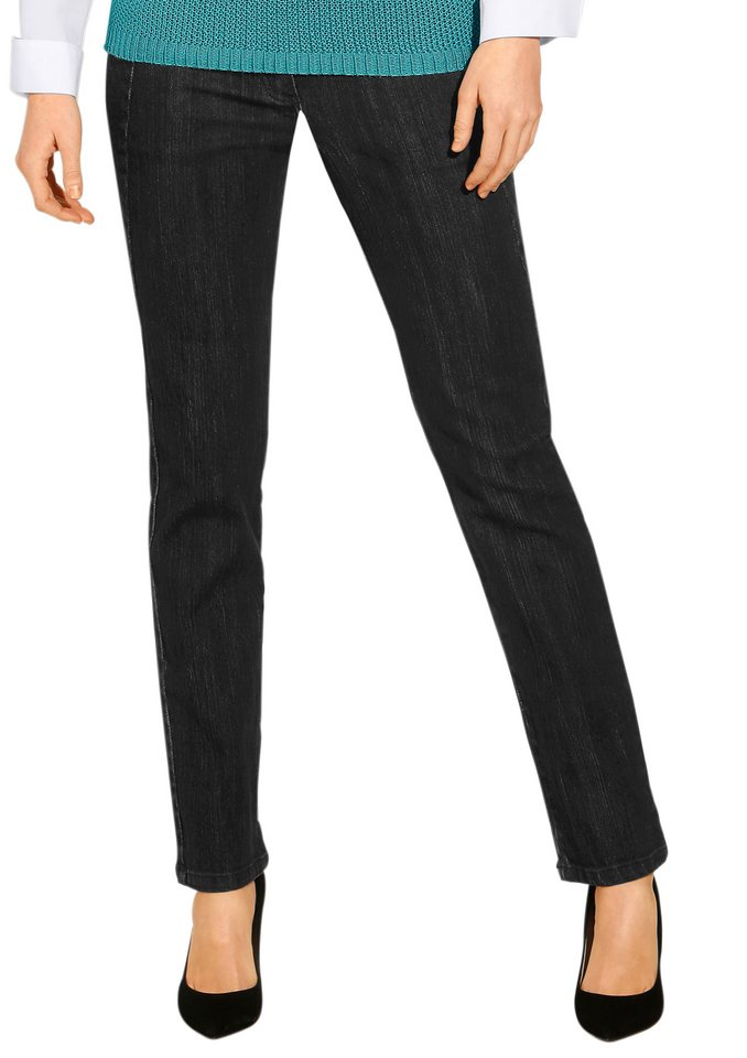 Classic Inspirationen Jeans mit Ziernähten in black-denim