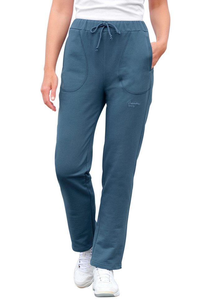 Catamaran Freizeithose in Sweat-Qualität in jeansblau