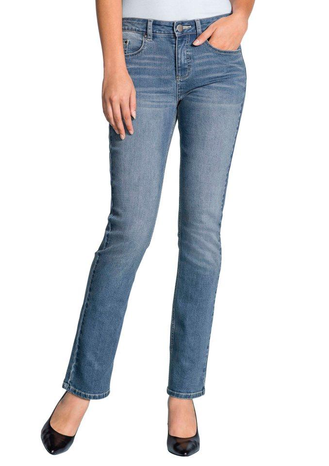 Classic Inspirationen Jeans im leichten Used-Effekt in blue-bleached