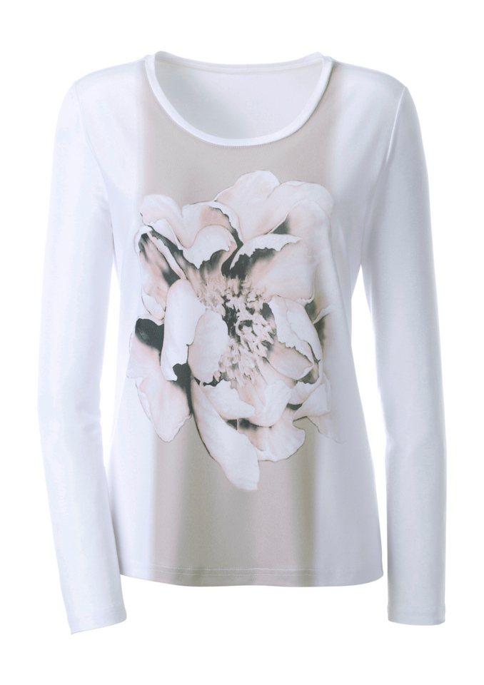 Ambria Shirt mit Blumen-Motiv in weiß-gemustert