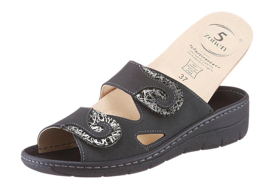 Pantolette mit 5-Zonen-Fußbett in grau
