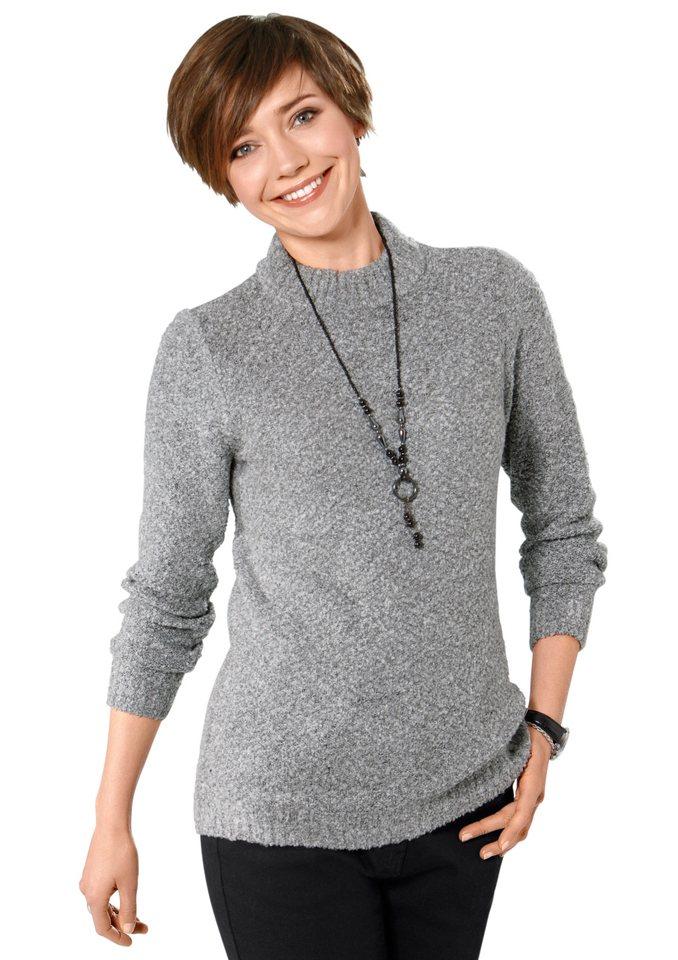 Classic Basics Pullover in wunderbar flauschiger Qualität in grau-meliert