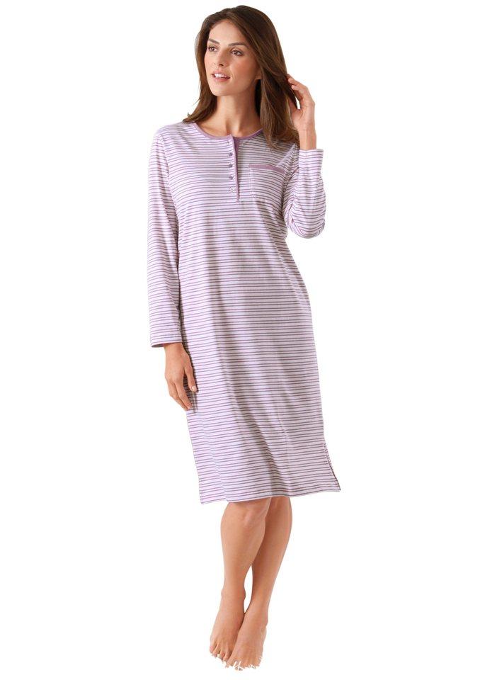 Nachthemd, Rosalie in rosenholz-geringelt
