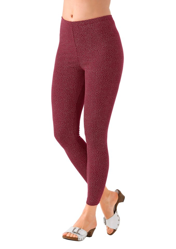 Leggings (2 Stck.) in bordeaux + schwarz