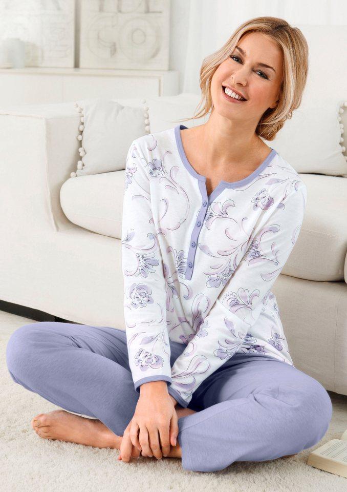 Schlafanzug, Arabella in flieder-bedruckt