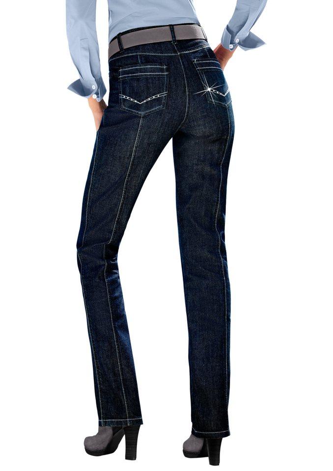 Création L Jeans mit Glitzersteinchen in dark blue