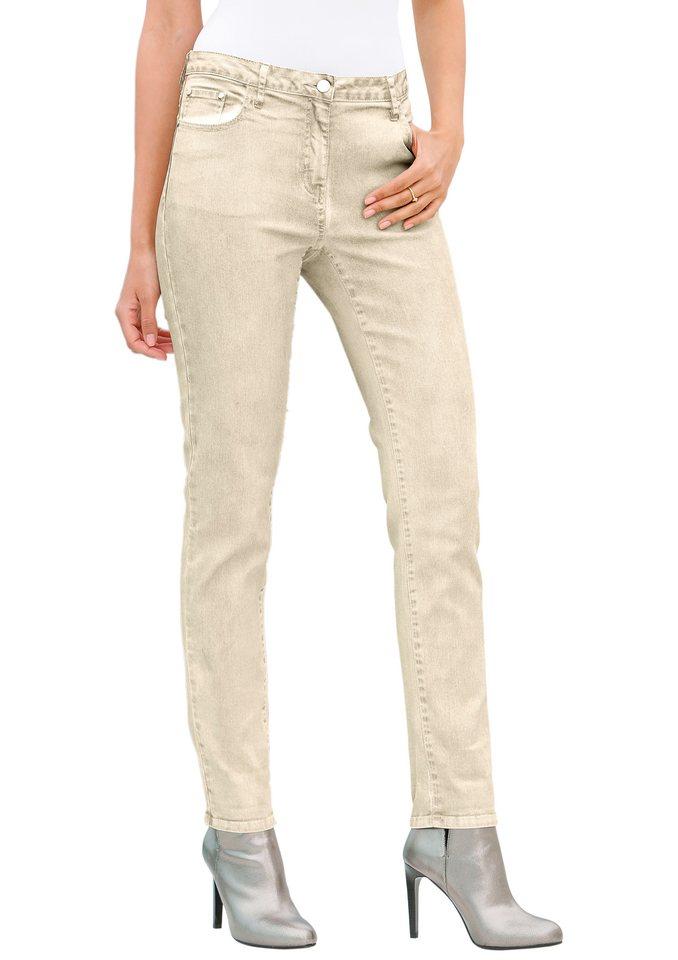 Création L Hose im 5-Pocket-Modell in beige