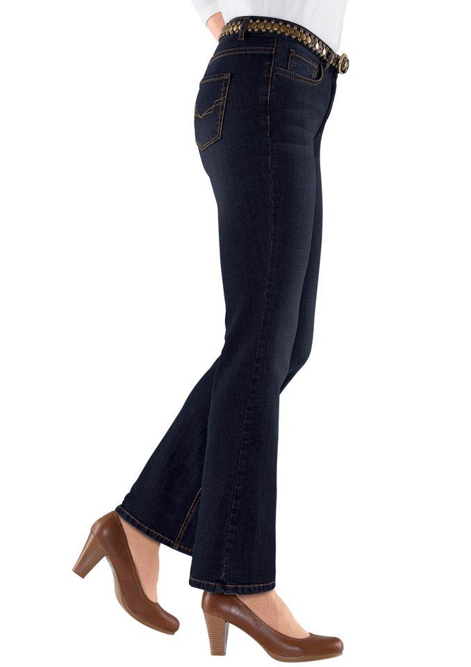 H.I.S. Jeans in figurfreundlicher Bootcut-Form, H.I.S in dark blue