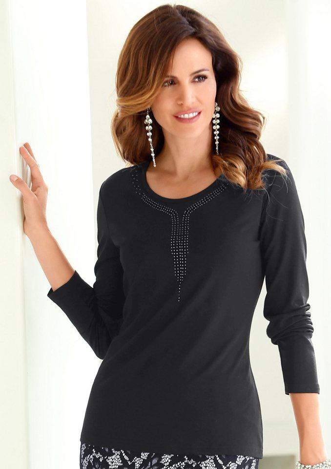 Alessa W. Shirt mit Metallplättchen in schwarz