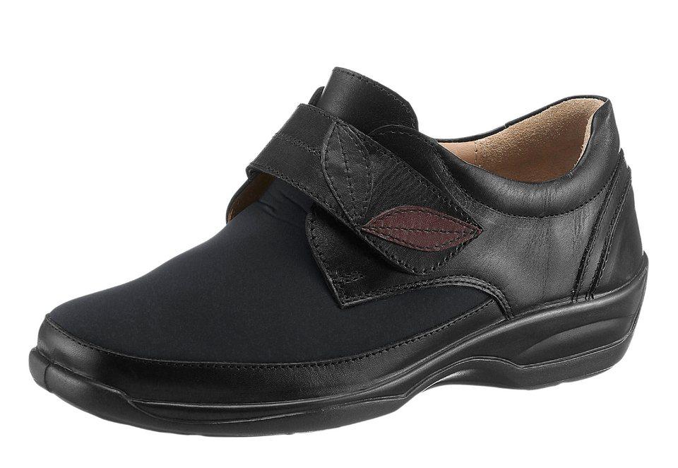 Gemini Klettschuh mit Leder-Wechselfußbett in schwarz