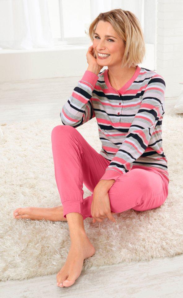 Schlafanzug, Rosalie in rosé-grau-meliert
