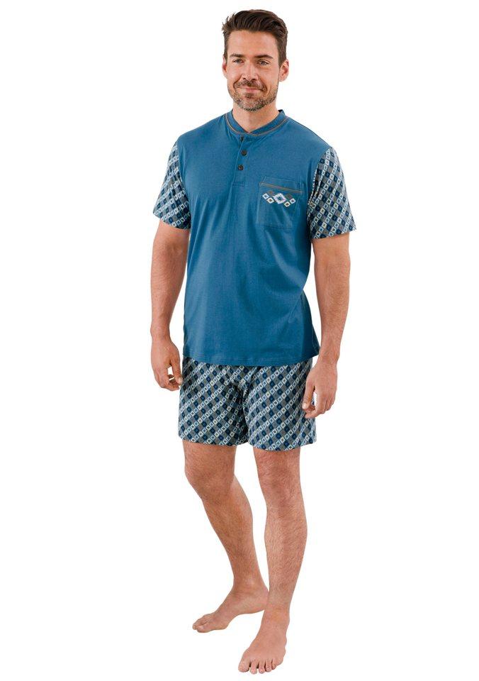 Shorty, Kings Club in blau-bedruckt