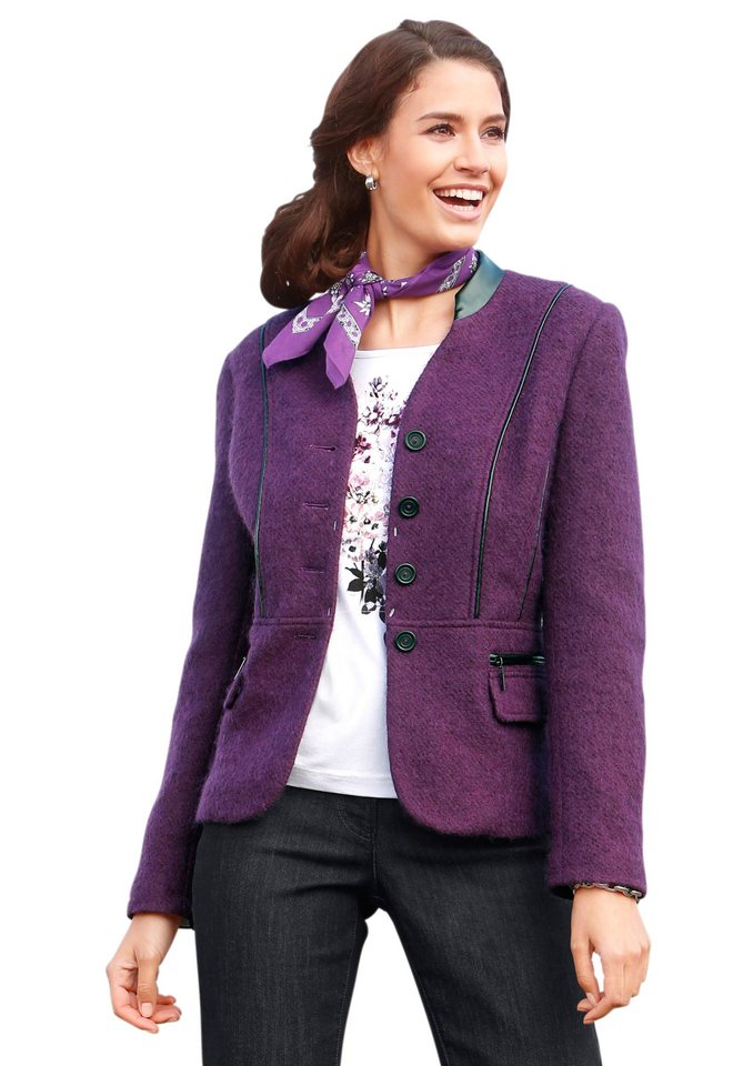 Classic Inspirationen Blazer in Walk-Qualität in lila