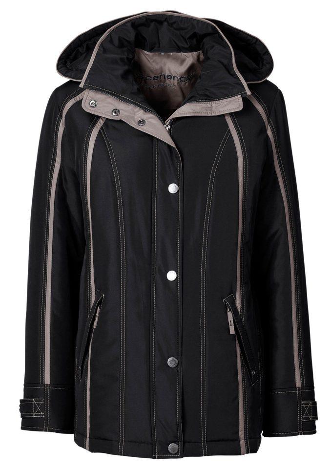Collection L. Sympatex-Jacke mit kontrastfarbigen Ziernähte und Paspelierungen