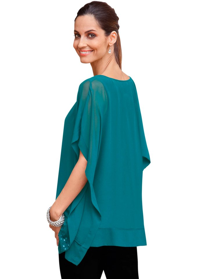 Together Bluse mit Top in petrol