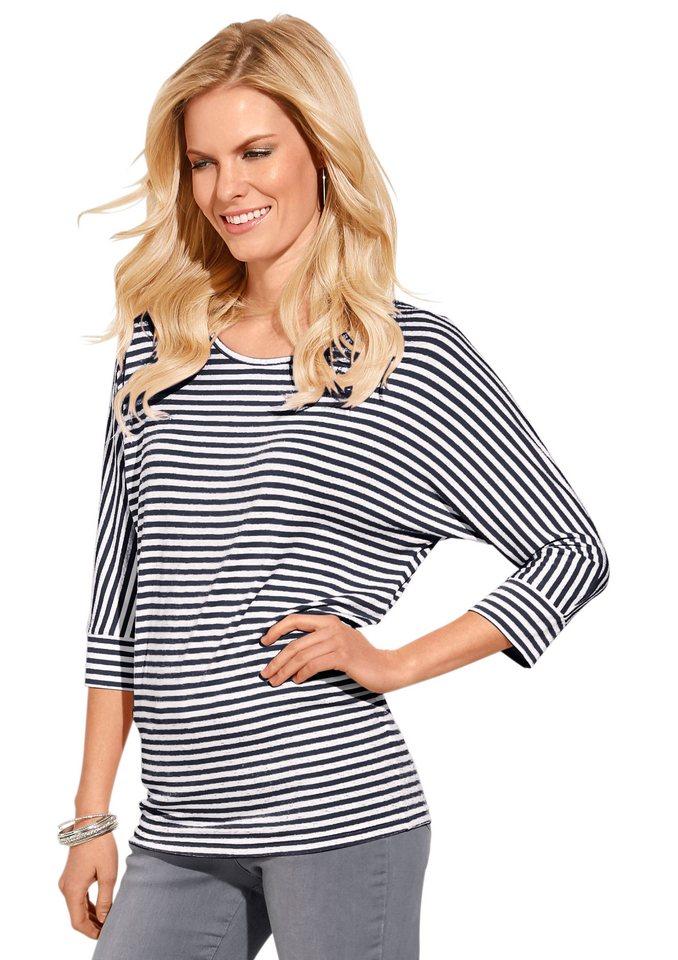 Classic Inspirationen Shirt mit 3/4-langen Ärmeln in marine-gestreift
