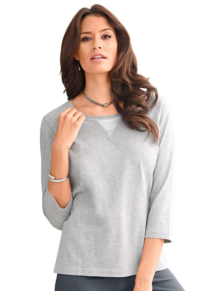 Classic Inspirationen Shirt mit 3/4-Ärmeln in grau-meliert