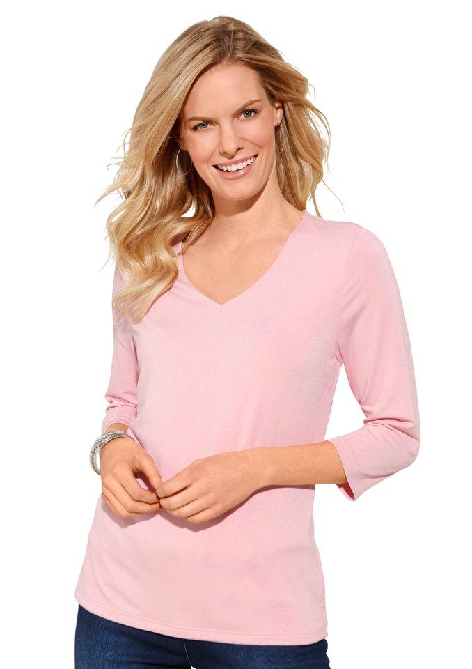 Classic Inspirationen Shirt mit 3/4 Ärmeln in rosé