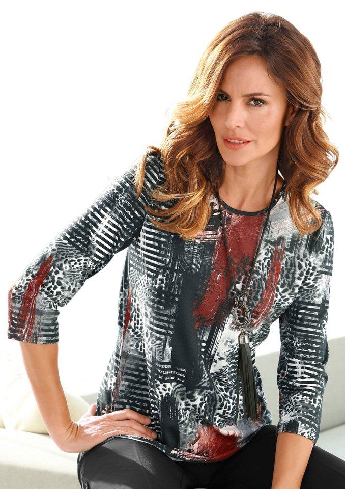 Alessa W. Shirt mit 3/4-lange Ärmel in zimt-bedruckt